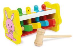 Klopfbank Farbzuordnung, Motorik Spielzeug, Werkbänke u. Werkzeug, Kinder-Holzspielsachen