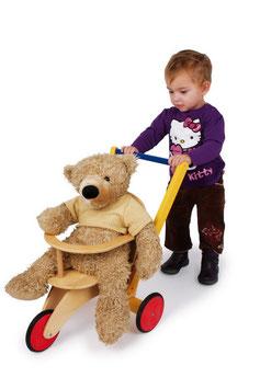 """Dreirad """"Buggy"""", Zieh- u Schiebeartikel für Puppen und für große Teddybären, Holzspielzeug für die Kleinen"""