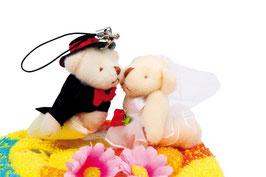"""Handtuchtorte """"Hochzeitspaar"""", Geschenke-Dekoration"""
