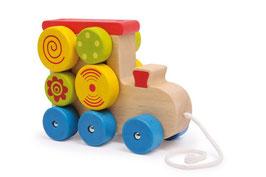 Zieh-Lok, Zieh- u. Schiebeartikel, Kinder-Holzspielsachen