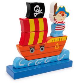 Steck-Piratenschiff, Schiffe-Zubehör, Holzspielzeug
