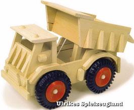 LKW Kipper mit beweglicher Ladefläche, Baustellenfahrzeug aus Holz für Bau und Konstruktion, Baugerät
