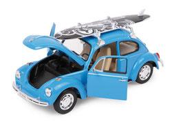 """Modellauto """"VW Beetle+Surfbrett"""" Automobil-Klassiker und Nostalgieauto für Spielkinder und Sammler"""