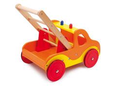 """Lauflernwagen """"Feuerwehr"""" für die Kleinsten, Holzspielzeug, Schiebeartikel"""