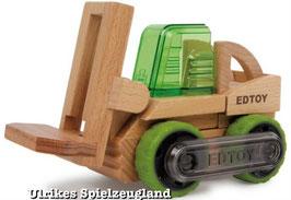 Gabelstapler EDTOY, Hubwagen zum Transport von Lasten, ein auf dem Holzspielzeugmarkt patentiertes Bausystem