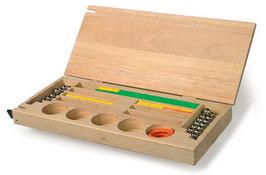 Kiste für Fädelperlen, Malen u. Basteln