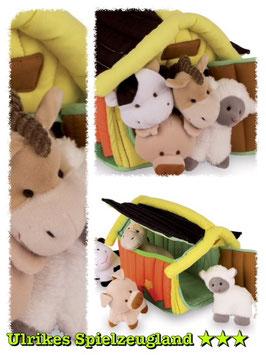 Baby Bauernhof, Plüsch- u. Kuschelartikel, Bauernhöfe-Zubehör, Motorik Spielzeug