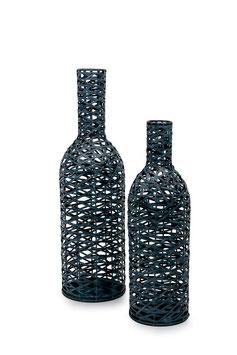 """Deko-Flaschen """"Geflecht"""", Geschenke-Dekoration"""