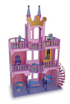 """Puppenhaus """"Märchenschloss"""", Puppenhäuser u. Zubehör, Kinderzimmermöbel u. Zubehör, Holzspielzeug"""