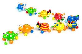 Geburtstagspolonaise, süße Kerzenhalter für den Kindergeburtstag, Holzspielzeug