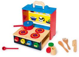 """Küche """"Mobil"""", für Küchen u. Zubehör, Holzspielzeug für mobile Kinder-Köche"""
