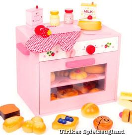 Kinder-Backofen 31 Teile aus Holz, Küchen u. Zubehör, Puppenhäuser u. Zubehör, Holzspielsachen für Köche
