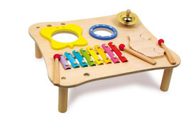 Musiktisch zur Schulung von Motorik und Rhythmus, Xyolophon, Musikinstrumente