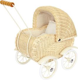 """Puppenwagen """"Weidengeflecht"""", für den kleinen Puppenliebling der Puppenmami"""