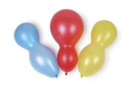 Zweifachballons 96 Stück, Kindergeburtstag