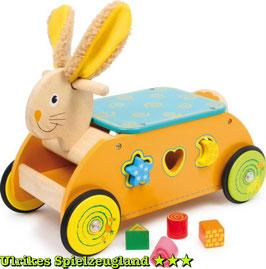 """Motorikwagen """"Hase"""", Motorik Spielzeug, Lauf-Fahrräder aus Buchenholz für rasante Kinderfahrten, Holzspielzeug"""