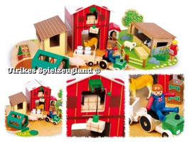Holz-Bauernhof mit Zubehör