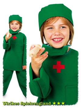 """Kinderkostüm """"OP-Arzt"""" Chirurg im Puppenkrankenhaus mit Mundschutz und Haube"""