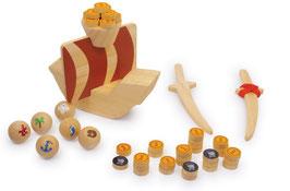 """Piratenspiel """"Captain Koog"""", Schiffe-Zubehör, Gesellschaftsspiele aus Holz"""