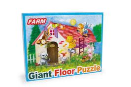 """Puzzle """"Gigant Farmleben"""" 48 tlg, Bauernhaus-Motiv mit Tieren, Puzzlespaß"""