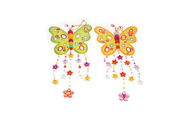 Metall-Schmetterlinge bunt, Geschenke-Dekoration
