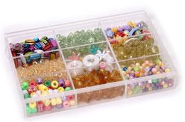 Perlen und Zubehör-Set -Fantasie-, Malen u Basteln, Perlen mit Fädelschnüren für Schmuck-Designer