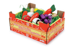Stiege mit Gemüse, Kaufläden, Küchen u. Zubehör