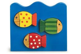 """Puzzle """"Komplett"""" 3er-Set, Tierpuzzle als Kinder-Holzspielzeug"""
