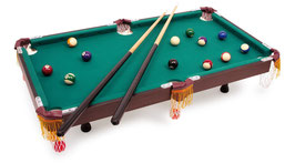 Billiardtisch mit Zubehör, Spielen u. Spaß für alle Jungspieler, Luxus-Tisch