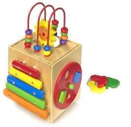 "Aktiv-Würfel ""Sonne"", Xylophon, Musikinstrumente als Motorik Spielzeug"