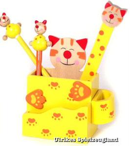 """Stiftebox """"Katze"""" für Kinder-Schreibtisch"""