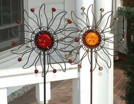 """Metall-Spieß """"Sonne"""", Geschenke-Dekoration"""