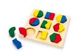 Geo-Puzzle, Puzzle, Lernartikel, Motorik Spielzeug