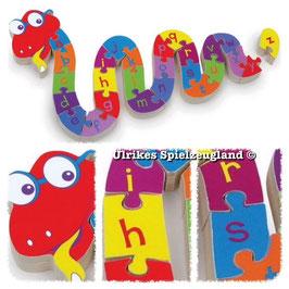 """Puzzle """"Schlangen ABC"""", Buchstaben-Lernartikel zum Kennenlernen des Alphabets"""