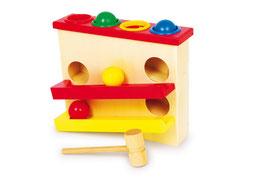 """Klopfkugelbahn """"Grande"""", Motorik Spielzeug Kugelbahnen, Kinder-Holzspielsachen"""