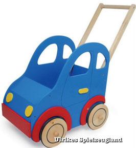 """Holz-Puppenwagen """"Auto"""" für Puppenbabys und Teddybären, Puppenhäuser u. Zubehör, Holzspielzeug"""