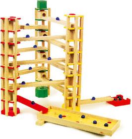 Kugelbahn, Bauen u. Konstruieren von Kugelbahnen, Kinder-Holzspielzeug