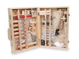"""Werkzeugkoffer """"Deluxe"""", Werkbänke u Werkzeug zum Bauen u Konstruieren, Holzspielzeug für kleine Bastler"""