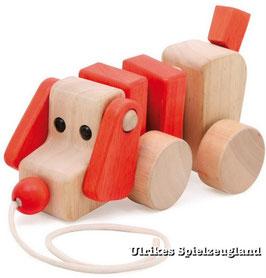 Nachzieh-Hund, Zieh- u. Schiebeartikel, Kinder-Holzspielzeug