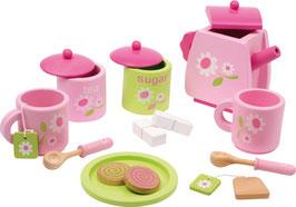 Teeservice rosa, Küchen u. Zubehör, Puppenhäuser u. Zubehör