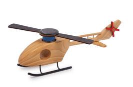Hubschrauber Solar als Rettungs-Helikopter, Holzspielzeug