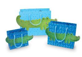 """Papiertaschen """"Krokodil, Kindergeburtstag"""