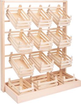 Verkaufsstand, Kaufläden-Zubehör für kleine Kaufleute, Holzspielzeug