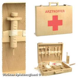 Arzt-Koffer mit Verbandsmaterial und reichhaltigem Zubehör