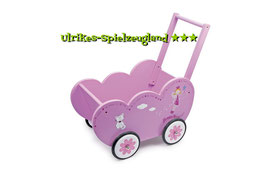 """Holz-Puppenwagen """"Beauty Princess"""", für Puppenbabys und Teddybären, Puppenhäuser u. Zubehör, Holzspielzeug"""