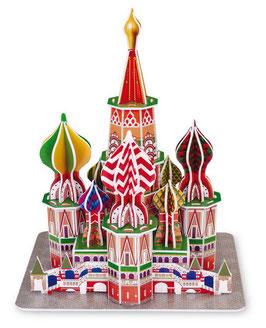 3D Basilius Kathedrale, 46-Teile-Puzzle einer außergewöhnlichen Kirche