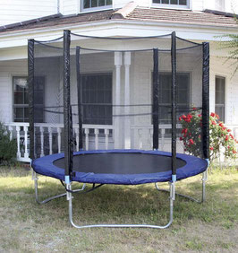 Trampolin, Outdoor / Garten / Sportgerät mit Hüpfspaß, Training u. Bewegung in der Freizeit für die Körperbeherrschung