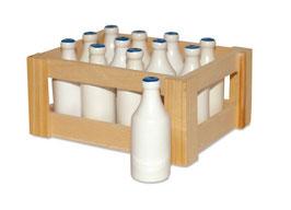Milchflaschen, Kaufläden-Zubehör, Küchen u. Zubehör
