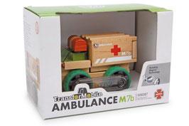 Ambulanz - Krankenwagen für Transporte von Verletzten in die Puppenklinik -Holzspielzeug