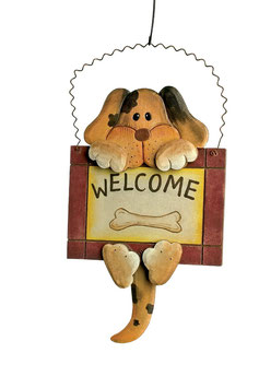 "Decoschild ""Welcome"", Geschenke-Dekoration"